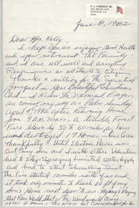 Letter from Ed LeBoeuf to Anna D. Kelly, June 8, 1982