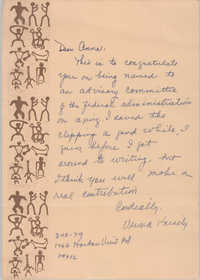 Letter from Urima Knisely to Anna D. Kelly, March 10, 1979