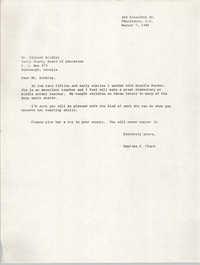 Letter from Septima P. Clark to Richard Binkley, August 7, 1984