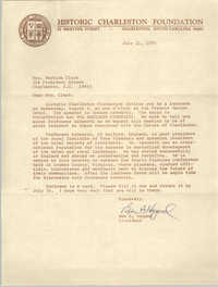 Letter from Ben A. Hagood to Septima P. Clark, July 11, 1975