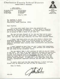 Letter from John Graham Altman, July 6, 1982