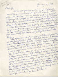 Letter from Septima P. Clark to Josephine Rider, January 18, 1969