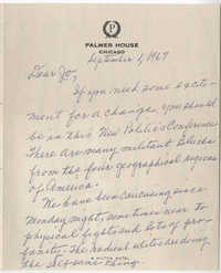 Letter from Septima P. Clark to Josephine Rider, September 1, 1967