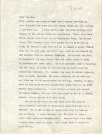 Letter from Josephine Rider to Septima P. Clark, February 25, 1968