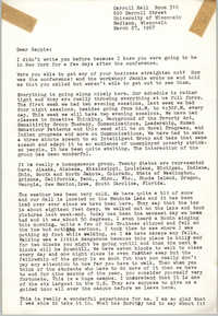Letter from Bernice Robinson to Septima P. Clark, March 27, 1967