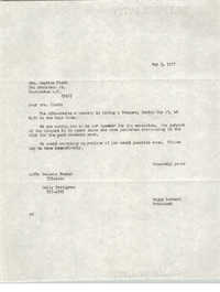 Letter from Major Bernard to Septima Clark, May 3, 1977