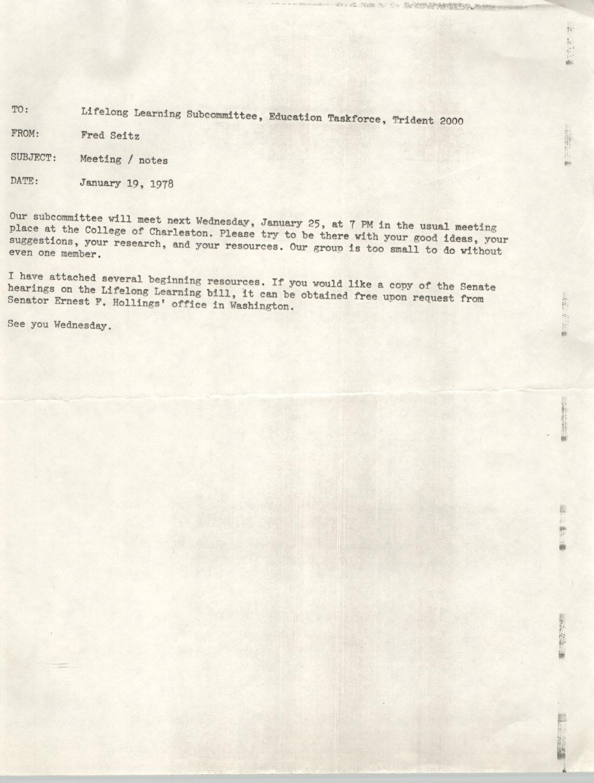 Trident 2000 Memorandum, January 19, 1978