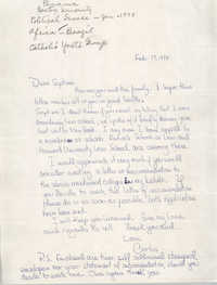 Letter from Carlos to Septima P. Clark, February 17, 1978