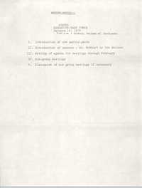 Education Task Force Agenda, January 18, 1978
