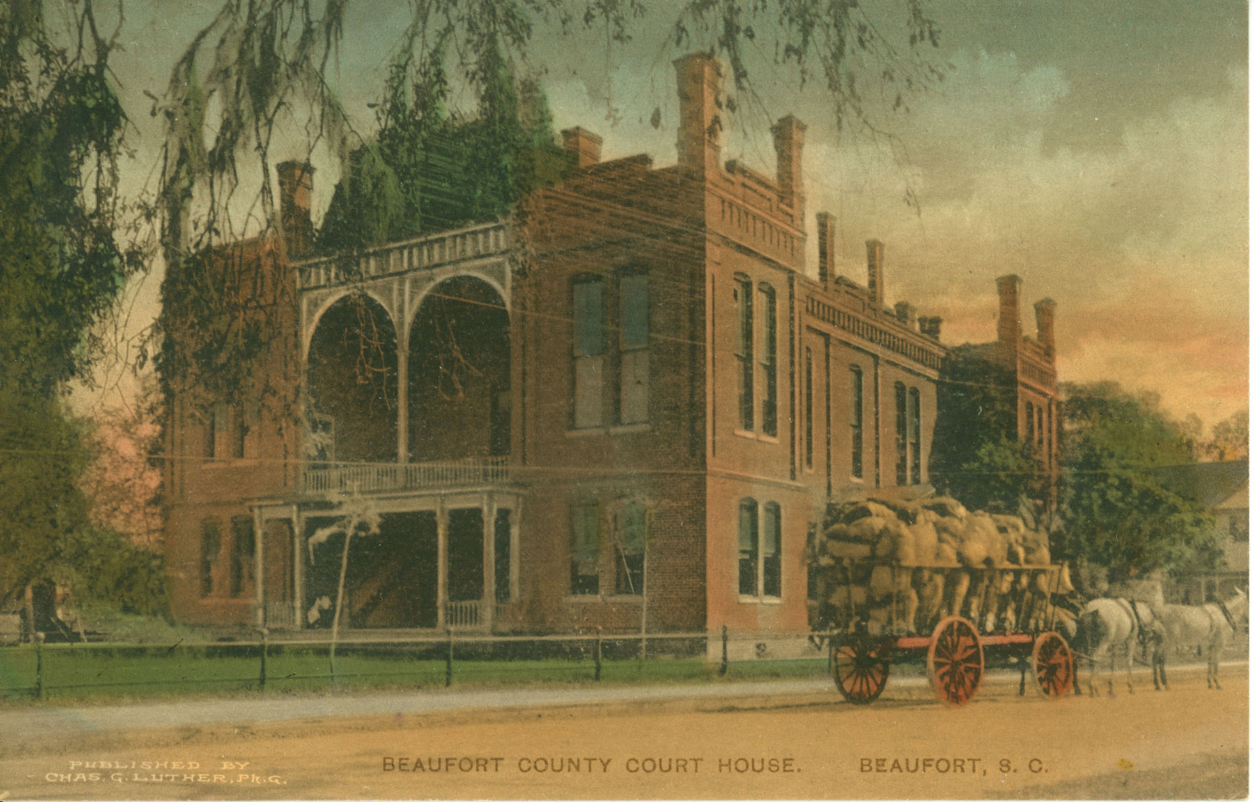 Beaufort County Court House. Beaufort, South Carolina