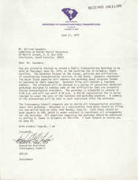 Letter from Donald N. Tudor to William Saunders, June 11, 1979