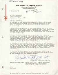 Letter from Myron Lutz to Bill Saunders, July 27, 1979