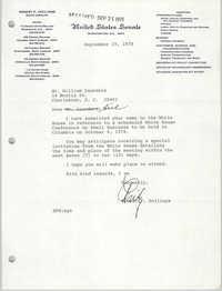 Letter from Herbert U. Fielding to William Saunders, September 19, 1978