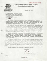 Letter from Frank van Aalst to William Saunders, February 28, 1979