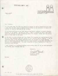 Letter from Virgil L. Conrad, September 5, 1978