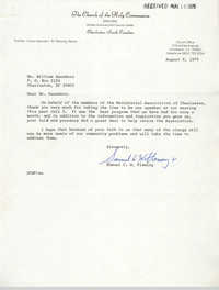Letter from Samuel C. W. Fleming to William Saunders, August 8, 1979