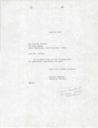 Letter from William Saunders to Shirley Johnson, July 12, 1979