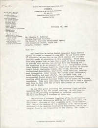 Letter from William Saunders to Charles F. McMillan, February 18, 1982