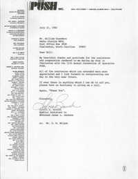 Letter from Sylvia E. Branch to William Saunders, July 21, 1982