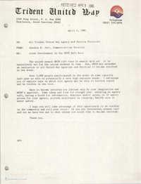 Trident United Way Memorandum, April 2, 1981