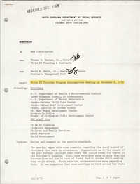 South Carolina Department of Social Services Memorandum, November 19, 1979