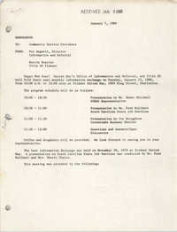 Trident United Way Memorandum, January 7, 1980