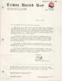 Trident United Way Memorandum, March 25, 1981