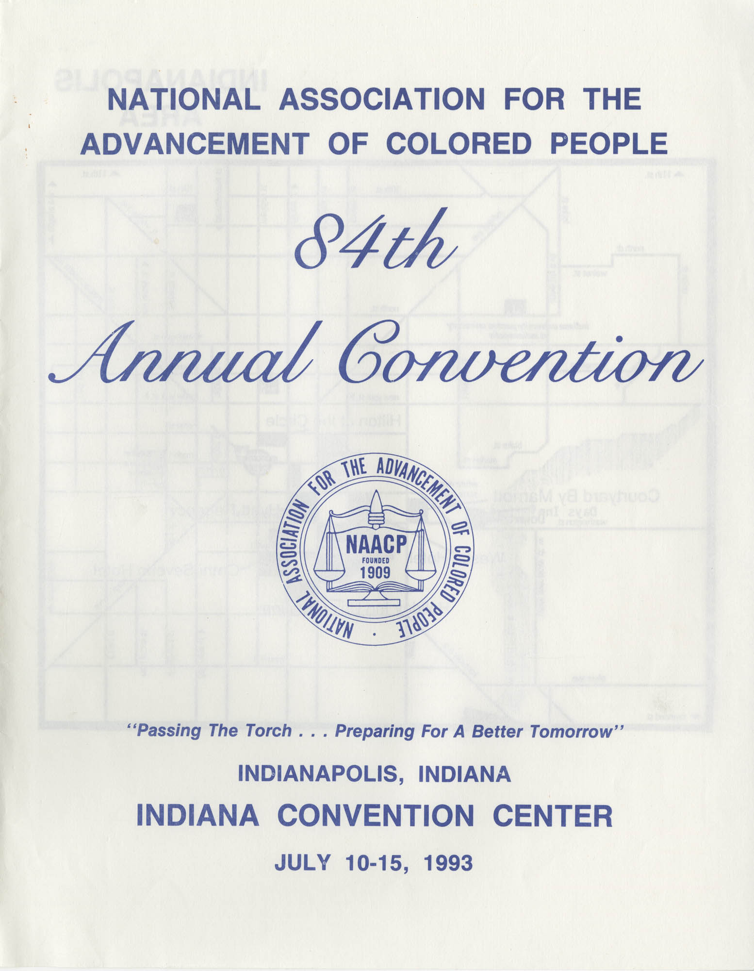 NAACP 84th Annual Convention, July 10-15, 1993