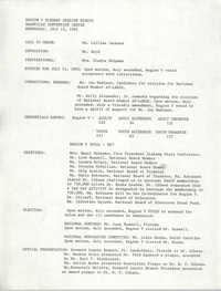 Region V Plenary Session Minutes, July 15, 1992
