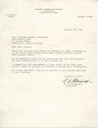 Letter from N. L. Manigault to Gertrude Graves, January 28, 1965