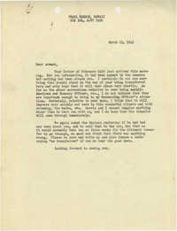 Letter from Sidney Jennings Legendre, March 11, 1943