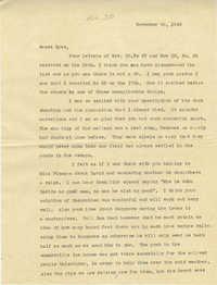 Letter from Sidney Jennings Legendre, November 20, 1942