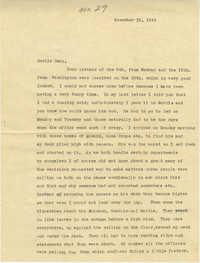 Letter from Sidney Jennings Legendre, November 18, 1942