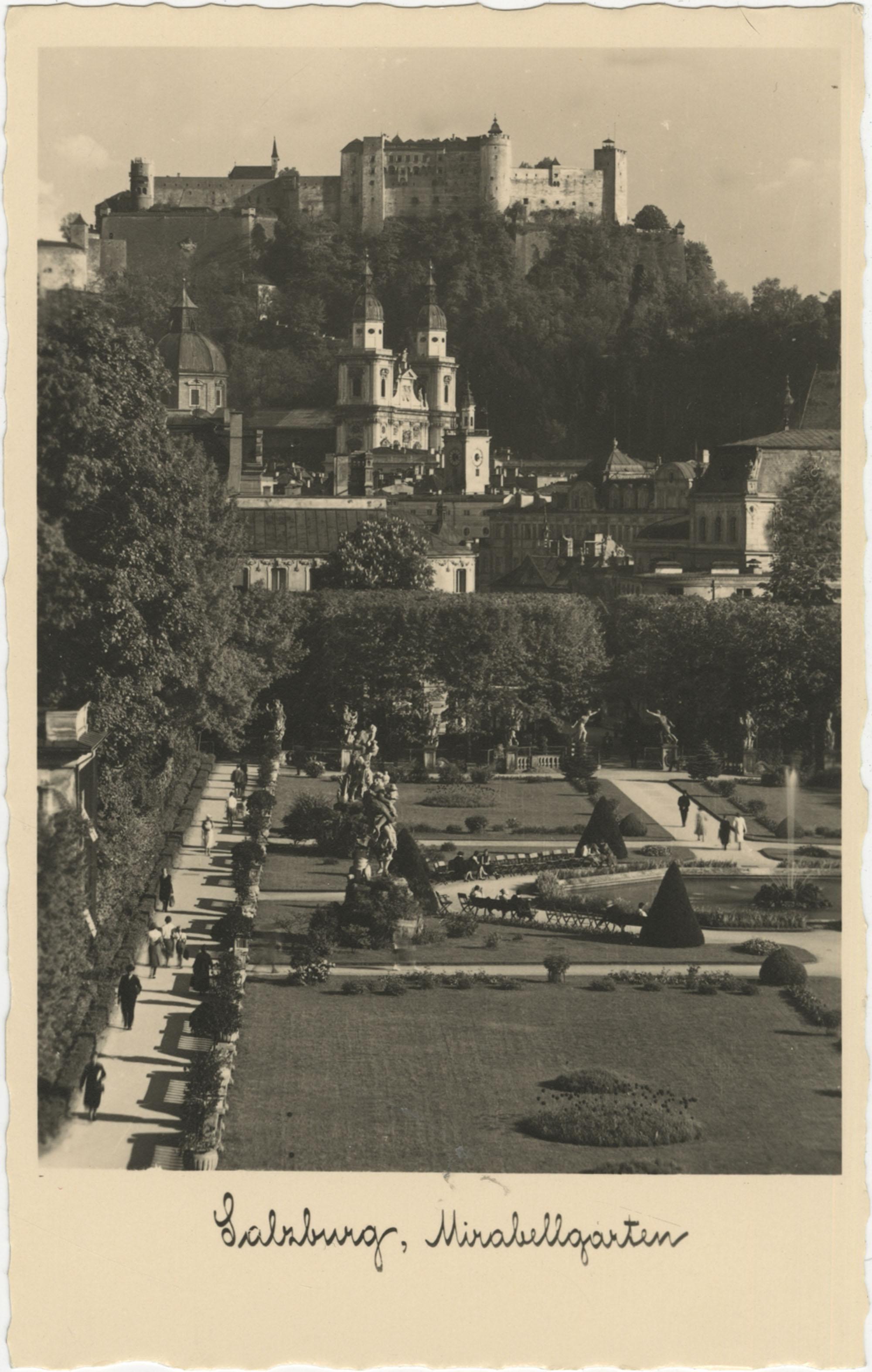 Mirabell Palace garden in Salzburg, Austria