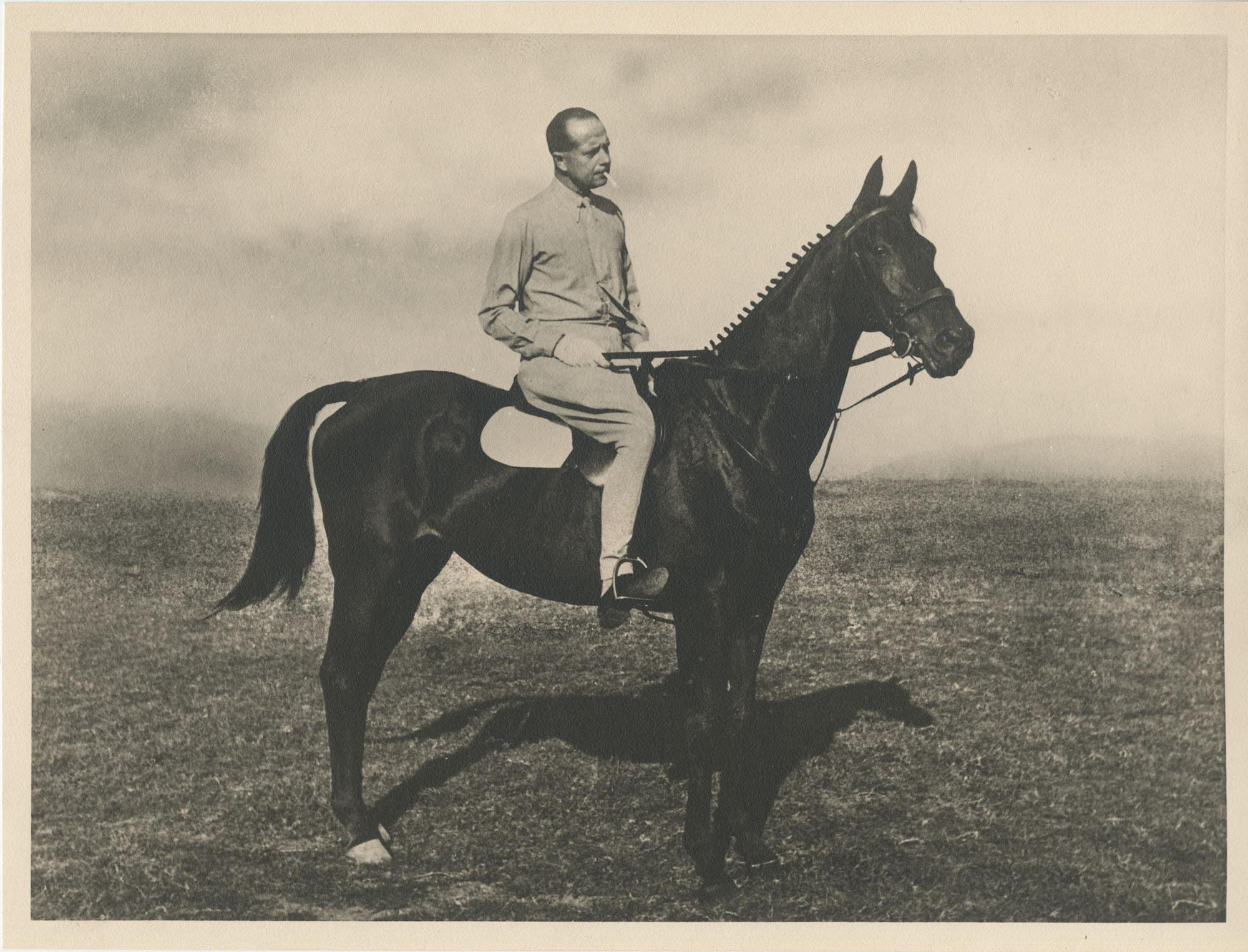 Mario Pansa astride a horse, Photograph 1
