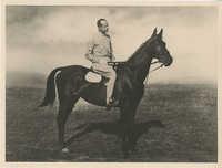 Mario Pansa astride a horse, Photograph 2