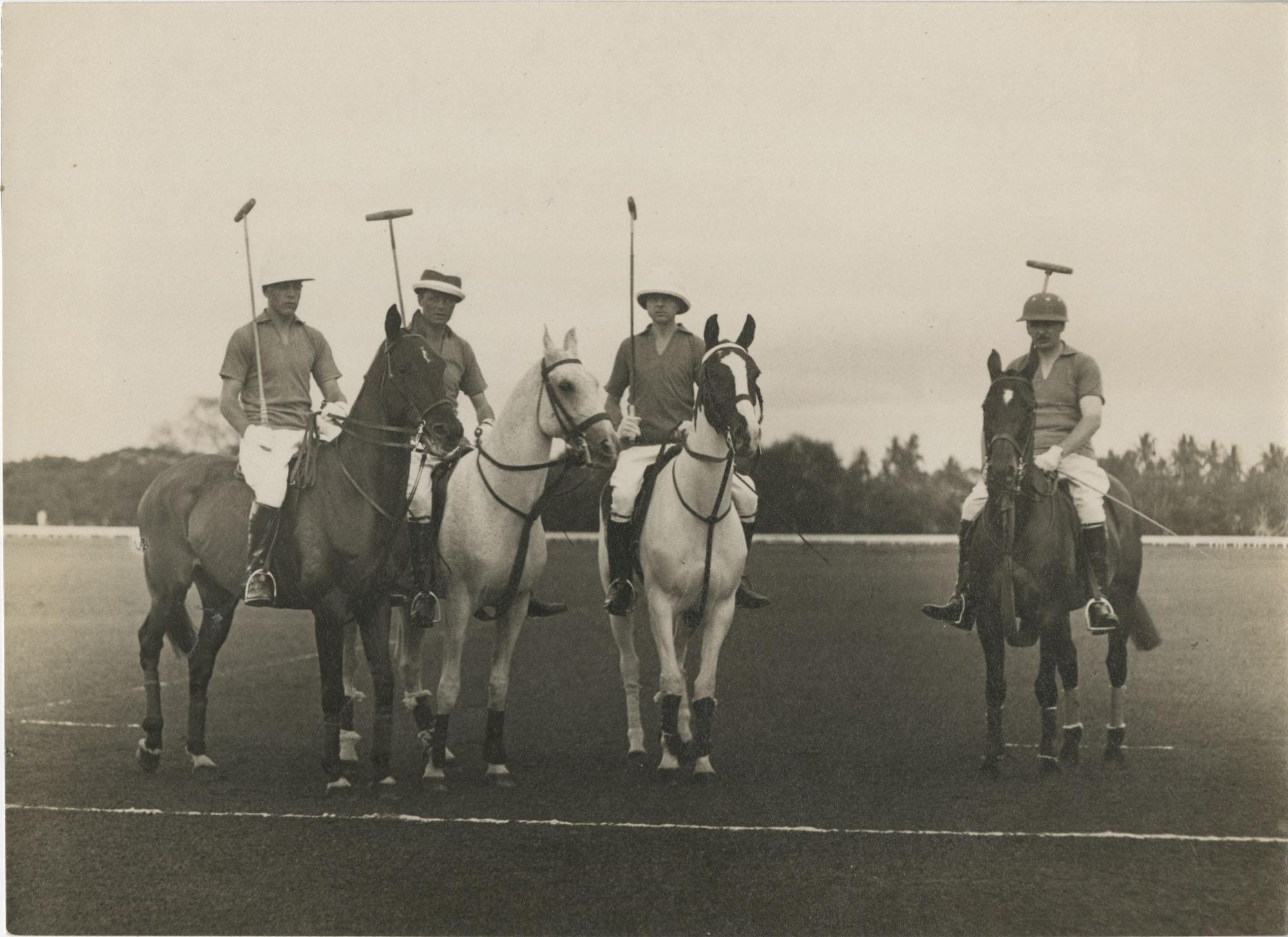 Mario Pansa with his polo team, Photograph 1