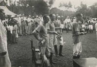 Mario Pansa celebrating with his polo team, Photograph 1