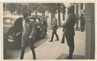 Military officials greeting each other, Photograph 3