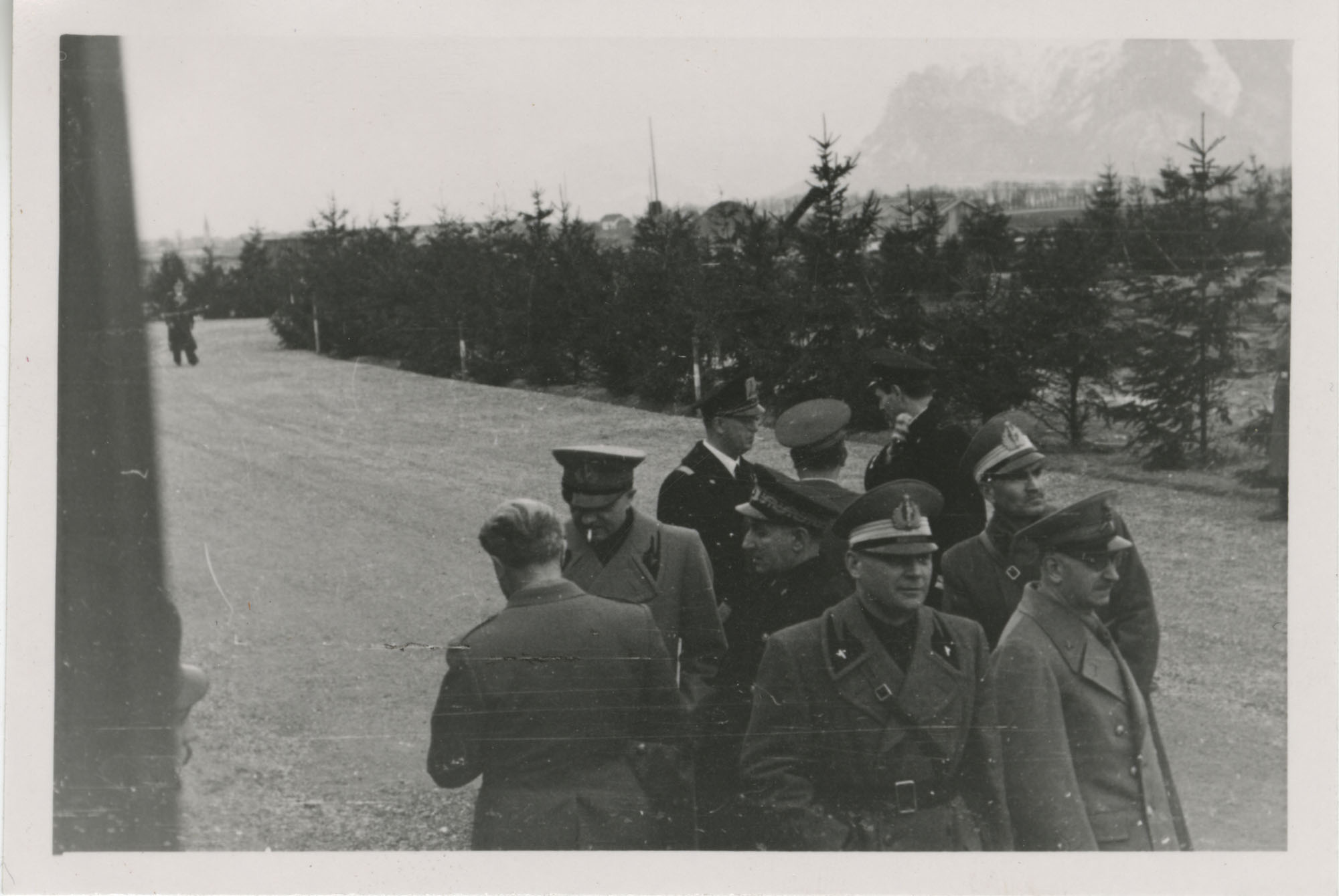 Mario Pansa greeting military personnel, Photograph 13