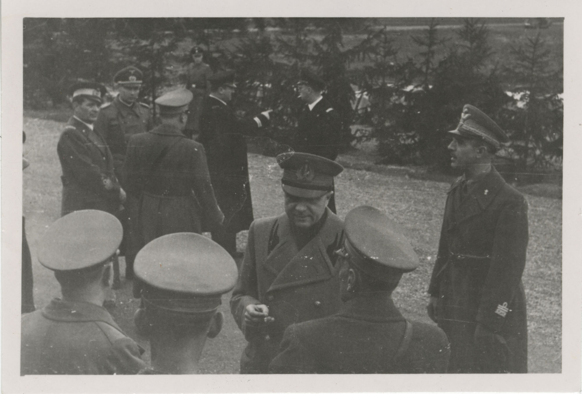Mario Pansa greeting military personnel, Photograph 8