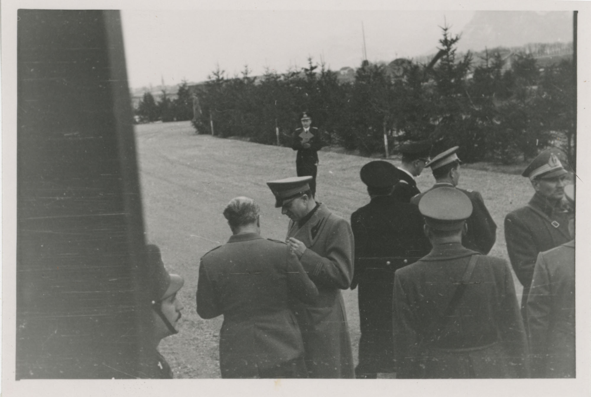 Mario Pansa greeting military personnel, Photograph 12