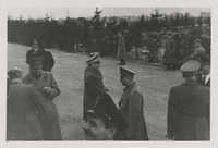 Mario Pansa greeting military personnel, Photograph 10