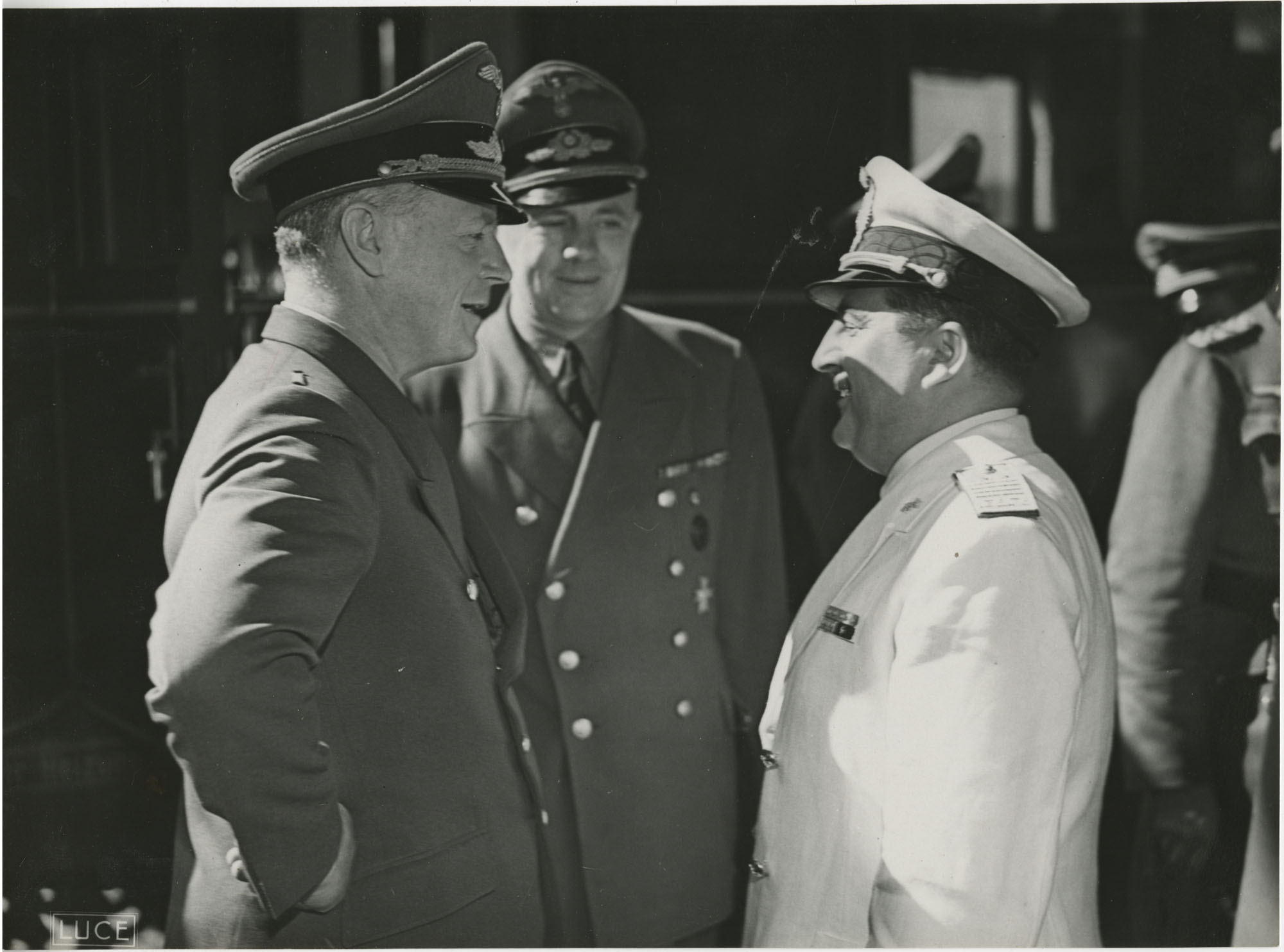 Military officials at a train station, Photograph 5