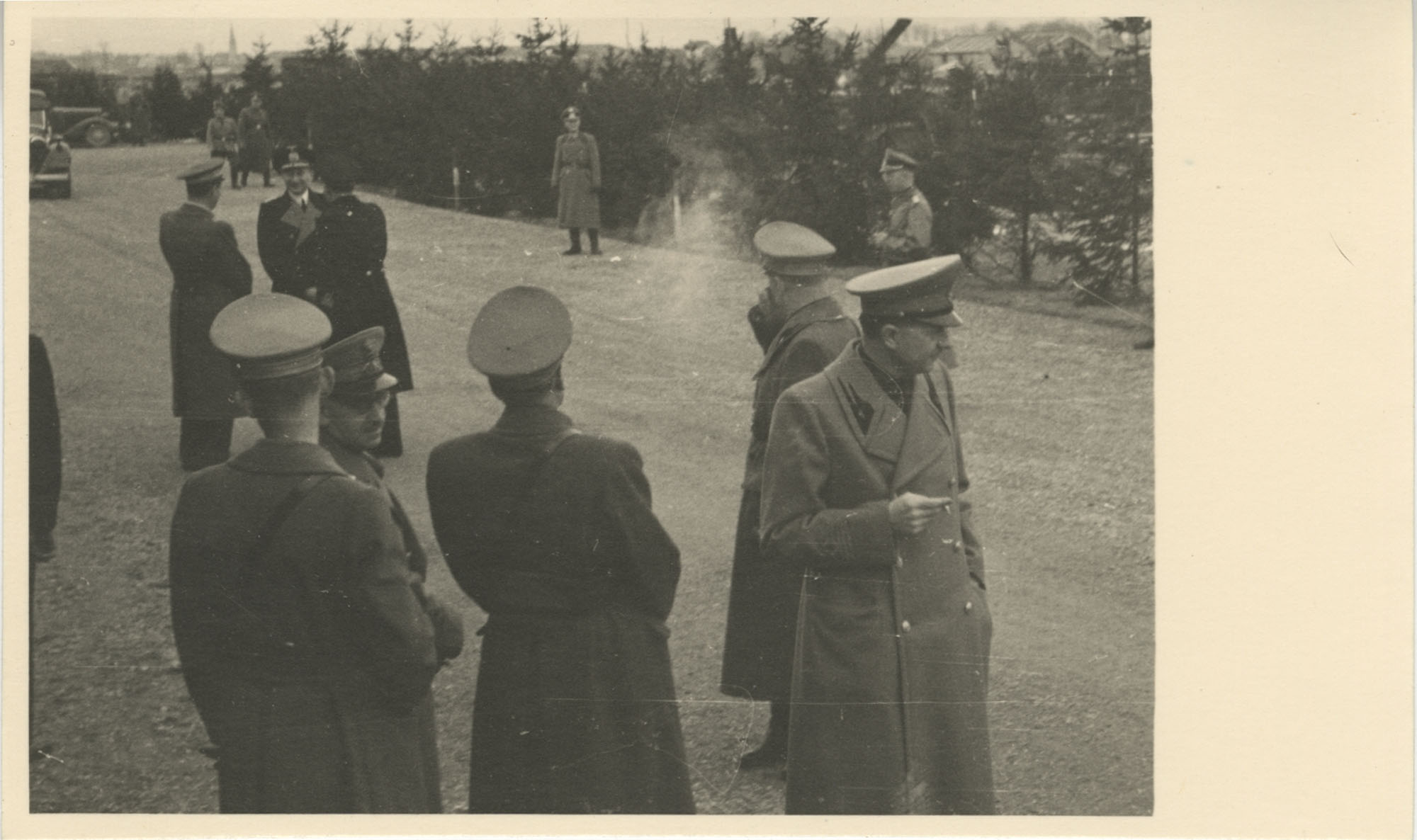 Mario Pansa greeting military personnel, Photograph 7