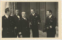 Mario Pansa and unidentified gentlemen in full dress uniform, Photograph 2