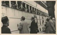 Mario Pansa and friends send off a ship