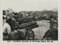 The Italian battery during the Battle of Maychew