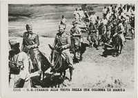 Achille Starace leading his soldiers through Ethiopia