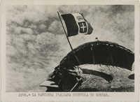 The flag of Fascist Italy flies over Gondar, Ethiopia